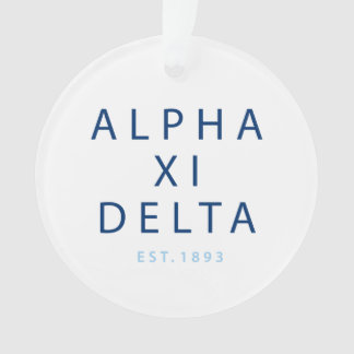 Alpha Xi Delta Modern Type Ornament
