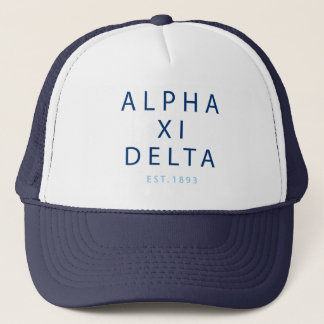 Alpha Xi Delta Modern Type Trucker Hat
