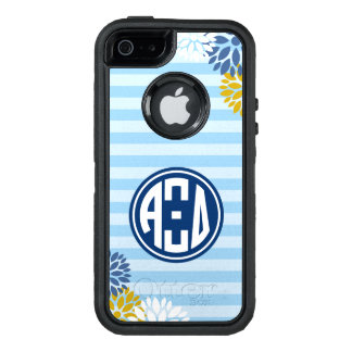 Alpha Xi Delta | Monogram Stripe Pattern OtterBox Defender iPhone Case