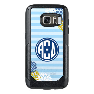 Alpha Xi Delta | Monogram Stripe Pattern OtterBox Samsung Galaxy S7 Case