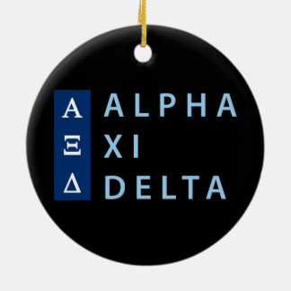 Alpha Xi Delta Stacked Ceramic Ornament