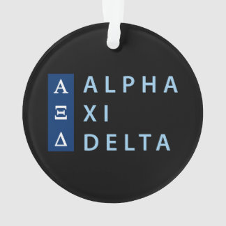 Alpha Xi Delta Stacked Ornament