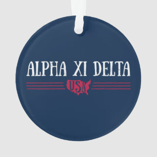 Alpha Xi Delta USA Ornament
