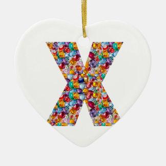 Alpha xxx ooo ttt lll GIFTS Jewel Fashion x o t l Ceramic Heart Decoration