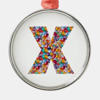 Alpha xxx ooo ttt lll GIFTS Jewel Fashion x o t l Silver-Colored Round Decoration