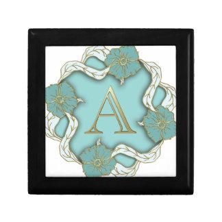 alphabet A monogram Small Square Gift Box