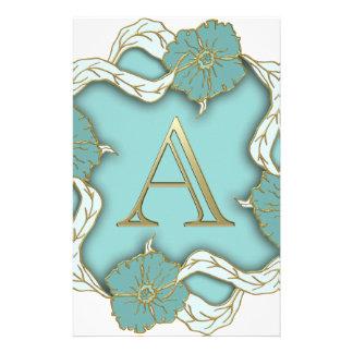 alphabet A monogram Stationery