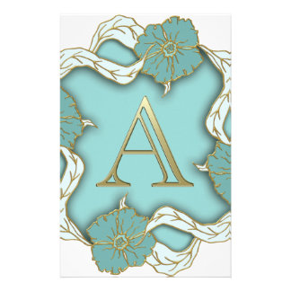 alphabet A monogram Stationery Design