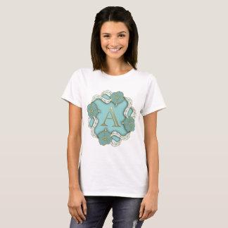 alphabet A monogram t-shirt