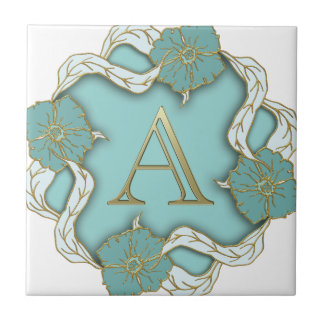 alphabet A monogram Tile