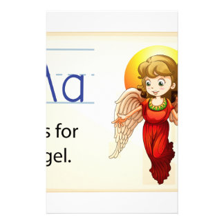 Alphabet A Personalized Stationery