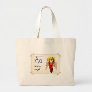 Alphabet A Jumbo Tote Bag
