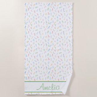 Alphabet | ABC's | Personalized Beach Towel