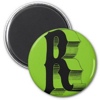 Alphabet accesories 6 cm round magnet