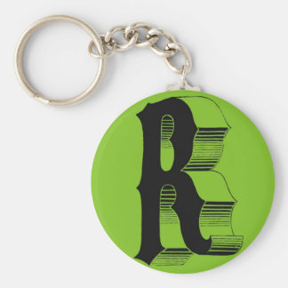 Alphabet accesories basic round button key ring
