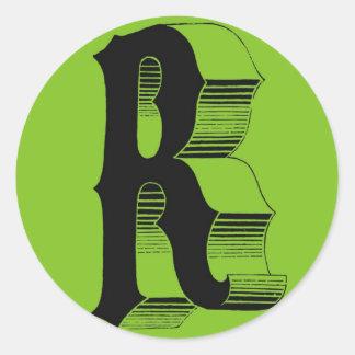 Alphabet accesories round sticker