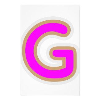Alphabet ALPHAG GGG Customized Stationery