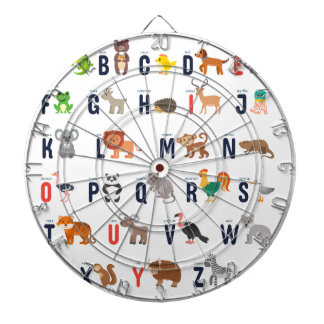 Alphabet Animals - super cute! Dartboard