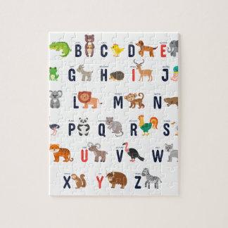 Alphabet Animals - super cute! Jigsaw Puzzle