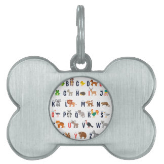 Alphabet Animals - super cute! Pet Tags