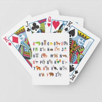 Alphabet Animals - super cute! Poker Deck