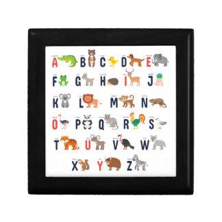 Alphabet Animals - super cute! Small Square Gift Box