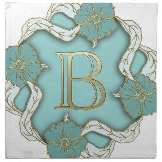 alphabet b monogram napkin