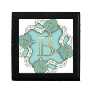 alphabet b monogram small square gift box