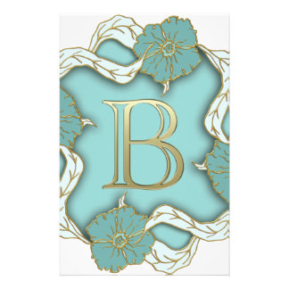alphabet b monogram stationery