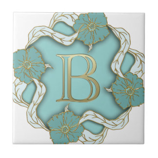 alphabet b monogram tile