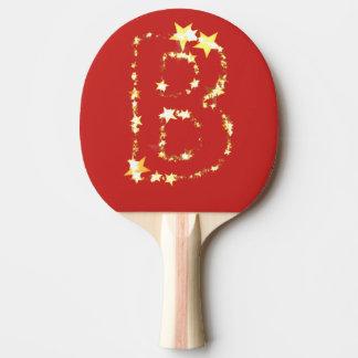 alphabet b ping pong paddle