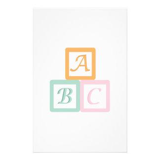 Alphabet Block Customised Stationery