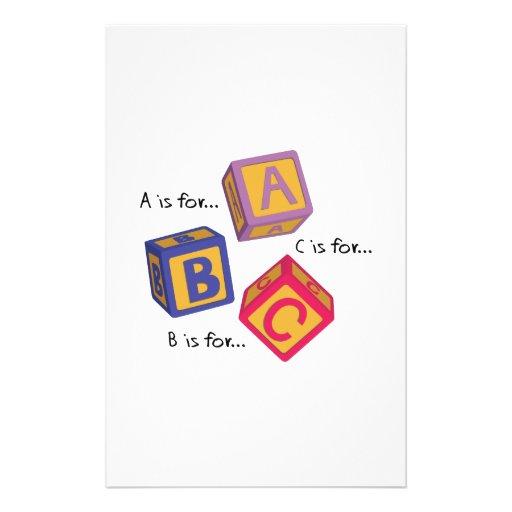 Alphabet Blocks Customized Stationery