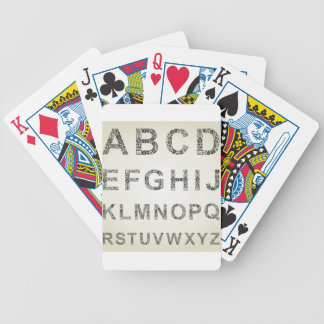 Alphabet business bicycle playing cards