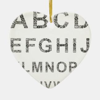 Alphabet business ceramic ornament