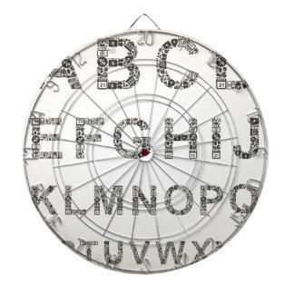 Alphabet business dartboard