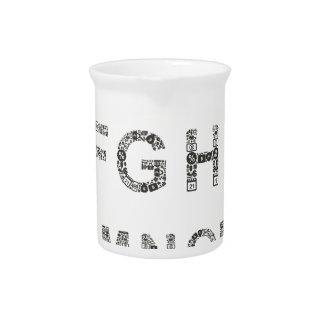 Alphabet business drink pitcher