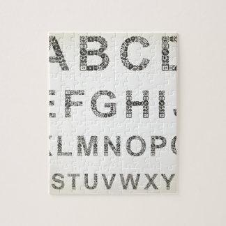 Alphabet business jigsaw puzzle
