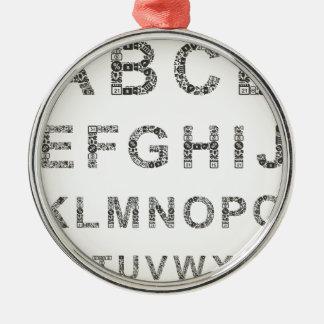 Alphabet business metal ornament
