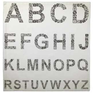 Alphabet business napkin
