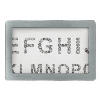 Alphabet business rectangular belt buckles