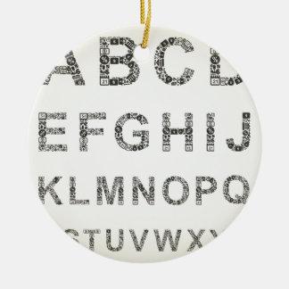 Alphabet business round ceramic decoration