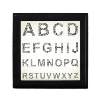 Alphabet business small square gift box