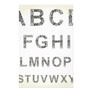 Alphabet business stationery paper