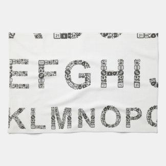 Alphabet business tea towels
