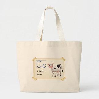 Alphabet C Jumbo Tote Bag