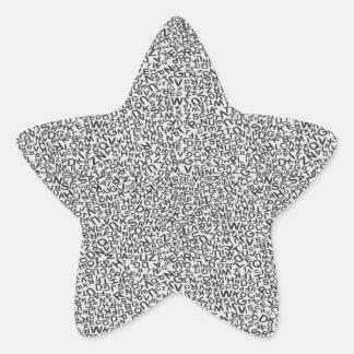 Alphabet Character Letter White Background Pattern Sticker