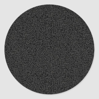 Alphabet Character Letters Black Backgound Pattern Sticker