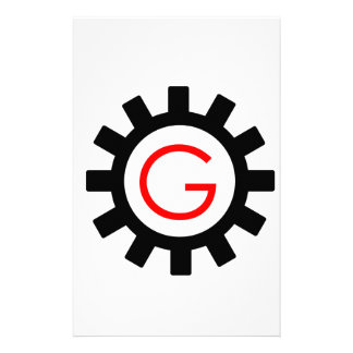 Alphabet G in gear Stationery
