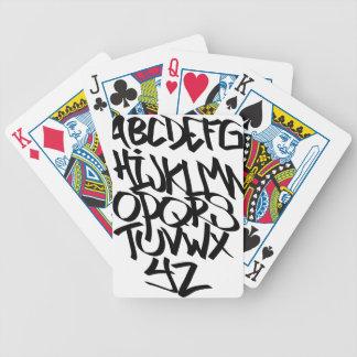 alphabet graffiti bicycle playing cards
